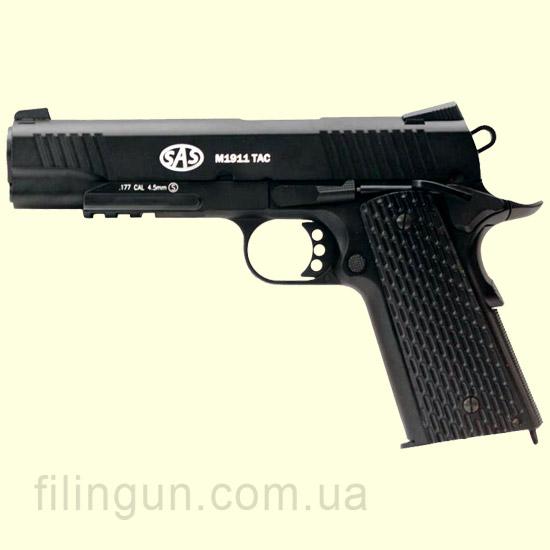 Пістолет пневматичний SAS M1911 Tactical Blowback (KMB-77AHN)