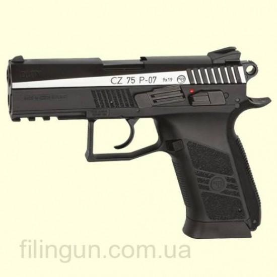 Пістолет пневматичний ASG CZ 75 P-07 Blowback вставка нікель