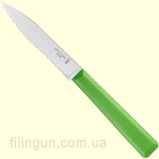 Нож Opinel №313 Serrated Green (Зелёный)