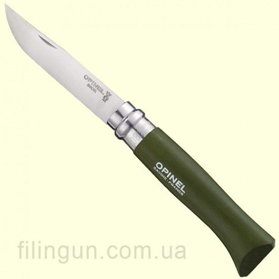 Нож Opinel 8 VRI Khaki блистер
