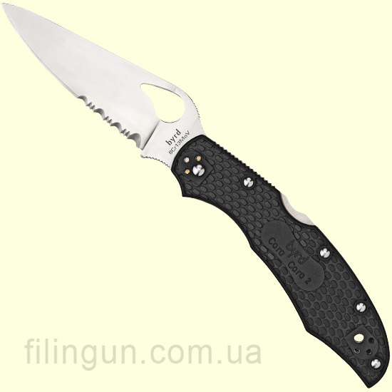 Нож Spyderco Byrd Cara Cara 2 FRN Combination Edge BY03PSBK2