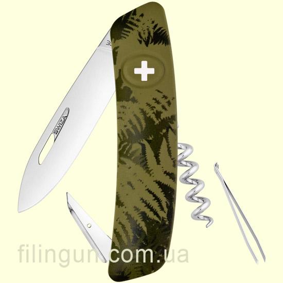 Швейцарський ніж Swiza C01 Olive Fern