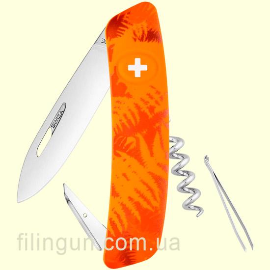 Швейцарський ніж Swiza C01 Orange Fern