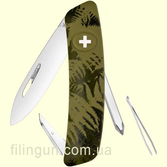 Швейцарський ніж Swiza C02 Olive Fern