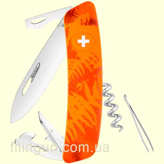 Швейцарський ніж Swiza C03 Orange Fern