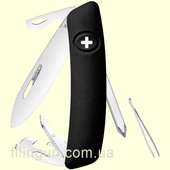 Швейцарський ніж Swiza D04 Black