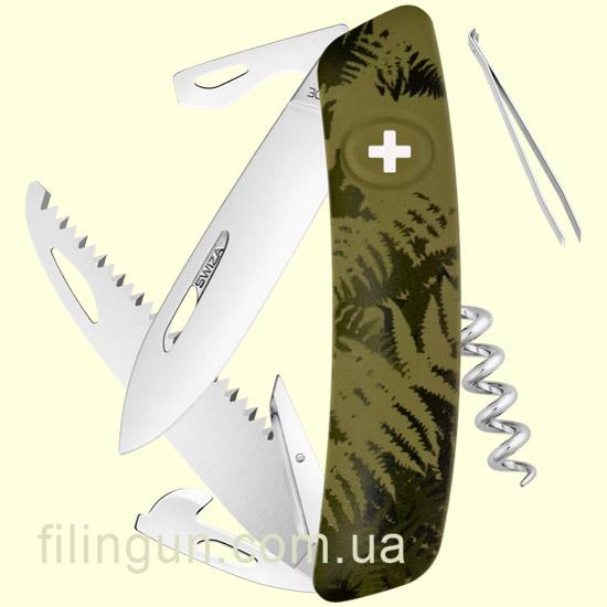 Швейцарський ніж Swiza C05 Olive Fern - фото