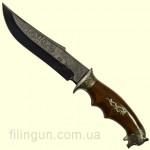 Нож охотничий Медведь мельхиор