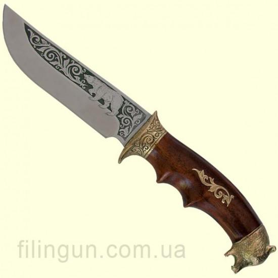 Нож охотничий Медведь голова - фото