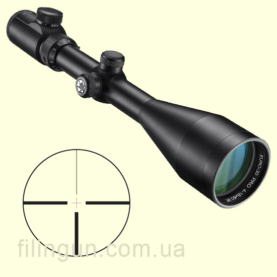 Оптичний приціл Barska Euro-30 Pro 4-16x60 (4A IR Cross) + Mounting Rings