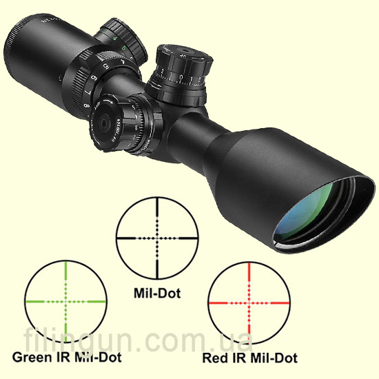 Оптичний приціл Barska Sniper GX2 3-9x42 (IR Mil-Dot R/G)