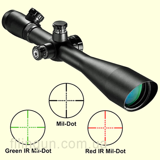 Оптичний приціл Barska Sniper GX2 6-24x50 SF (IR Mil-Dot R/G)