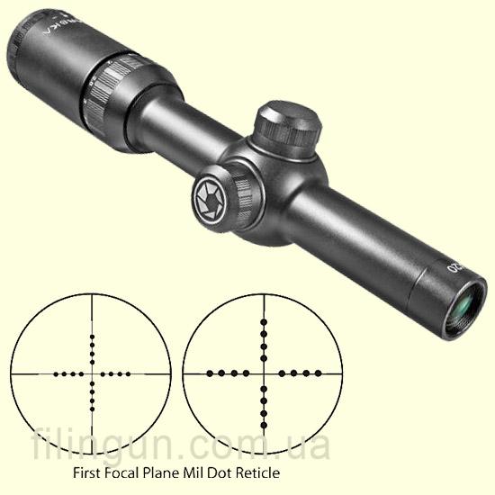 Оптический прицел Barska Tactical 1.5-4.5x20 FFP (Mil-Dot) + Rings