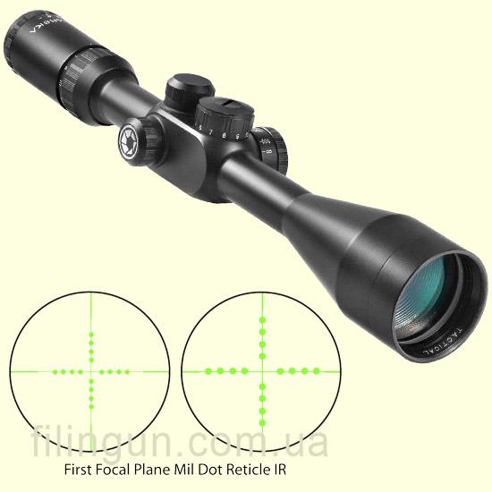 Оптический прицел Barska Tactical 6.5-20x40 FFP (IR Mil-Dot) + Rings