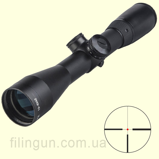 Оптичний приціл BSA Optics Advance 1.5-6x42 IRG430
