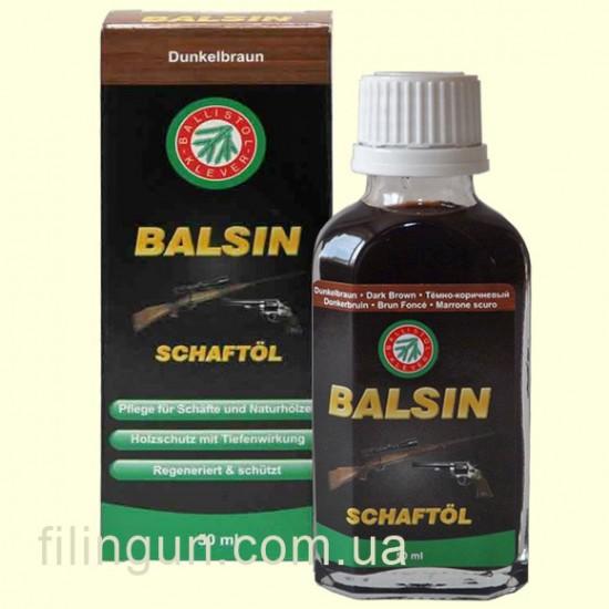 Масло для ухода за деревом Klever Ballistol Balsin Schaftol 50ml темно-коричневое
