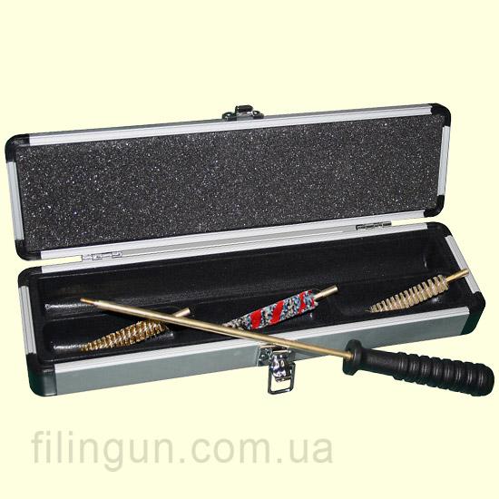 Набір для чищення MegaLine 22 калібр пістолетний в алюмінієвій коробці