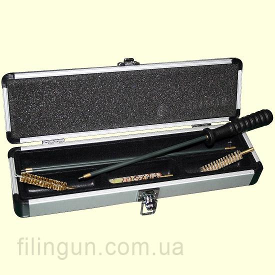 Набір для чищення MegaLine 22 калібр в алюмінієвій коробці (шомпол в оплетке)
