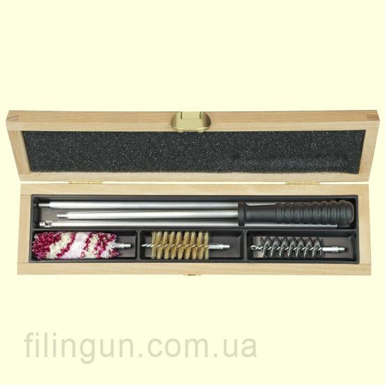 Набор для чистки MegaLine 12 калибр деревянный пенал
