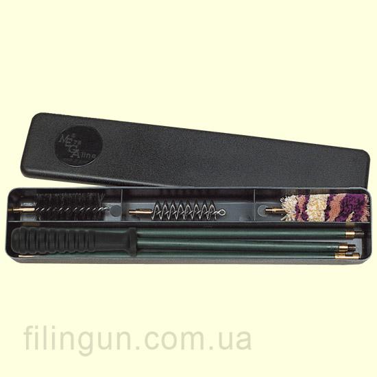 Набір для чищення MegaLine 12 калібр пластикова коробка (шомпол в оплетке)