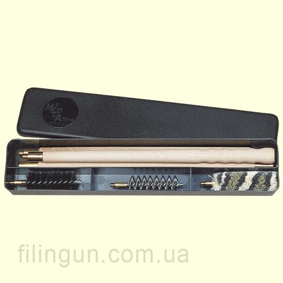 Набір для чищення MegaLine 16 калібр пластикова коробка (дер. шомпол)