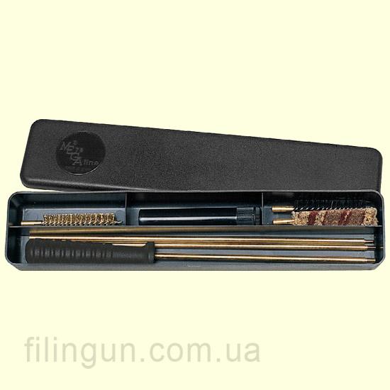 Набір для чищення MegaLine 22 калібр пластикова коробка (латунний шомпол)