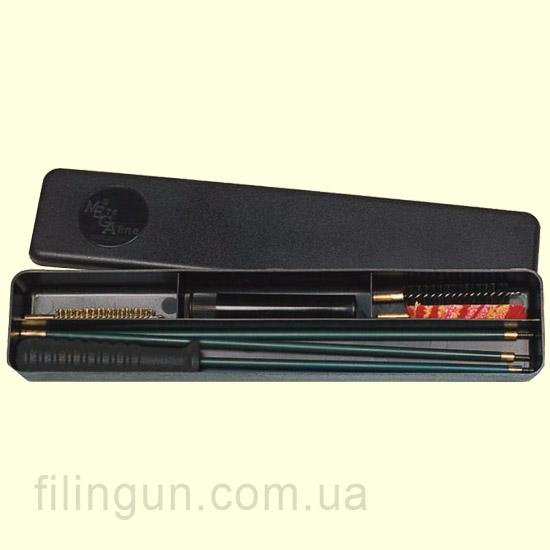 Набір для чищення MegaLine 22 калібр пластикова коробка (шомпол в оплетке)