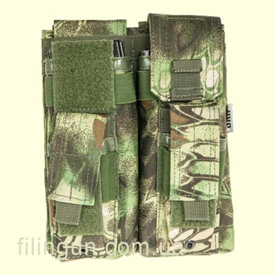 Подсумок Skif Tac для 2х магазинов АК/AR, 2x пистолетных Kryptek Green