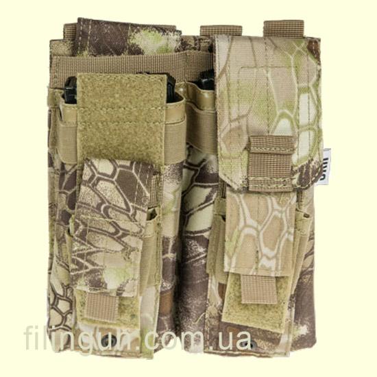 Подсумок Skif Tac для 2х магазинов АК/AR, 2x пистолетных Kryptek Khaki