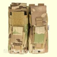 Подсумок Skif Tac для 2х магазинов АК/AR, 2x пистолетных Multicam