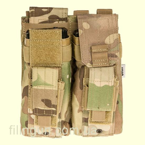 Підсумок Skif Tac для 2х магазинів АК/AR, 2x пістолетних Multicam