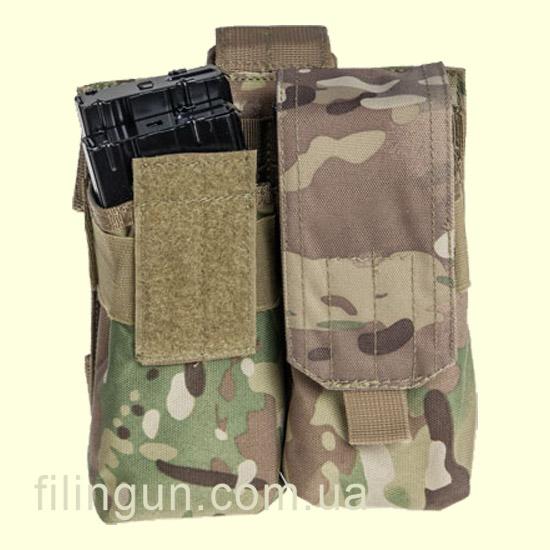Підсумок Skif Tac для 4х магазинів АК з кріпленням на стегно Multicam