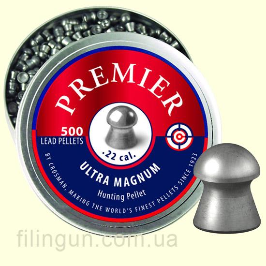 Кулі для пневматичної зброї Crosman .22 (5.5 мм) Domed Premier Pellets 500 шт