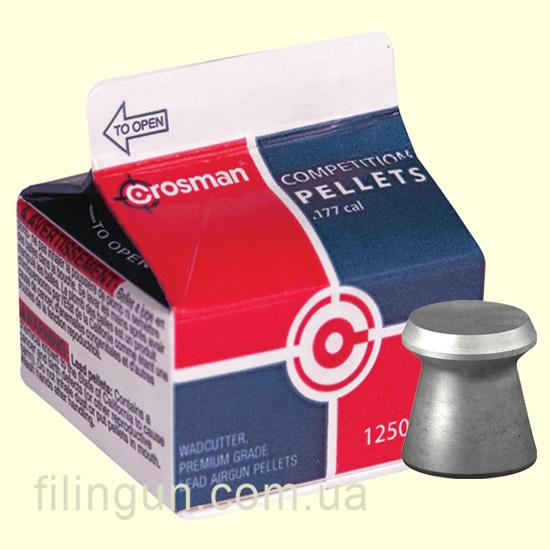 Пули для пневматического оружия Crosman Wadcutter Pellets 0.47 гр (1250 шт.)
