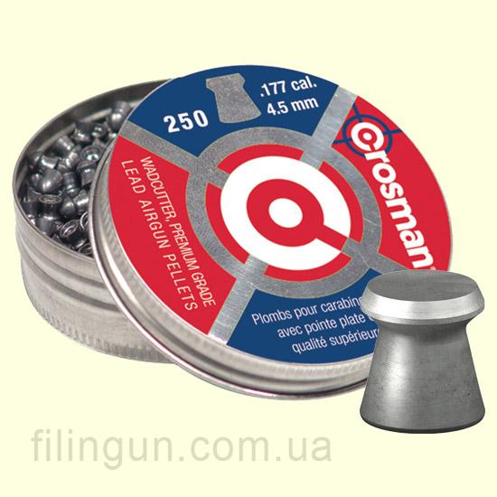 Пули для пневматического оружия Crosman Wadcutter Pellets 0.47 гр (250 шт.)