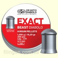 Кулі для пневматичної зброї JSB Diabolo Exact Beast