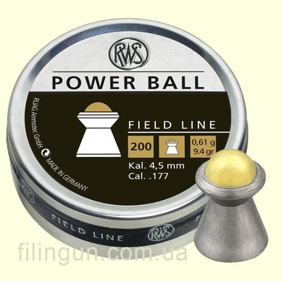 Пули для пневматического оружия RWS Power Ball 0,61g