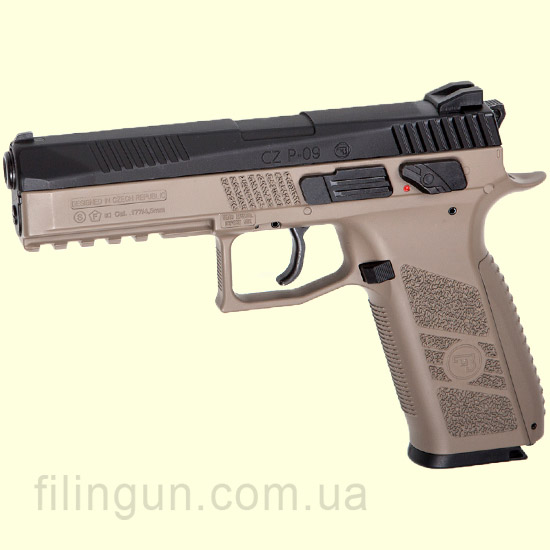 Пистолет пневматический ASG CZ P-09 Pellet DT-FDE Blowback