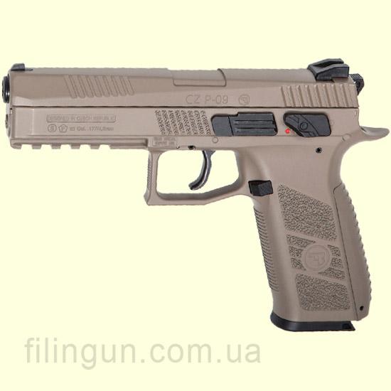 Пистолет пневматический ASG CZ P-09 Pellet Full FDE Blowback - фото