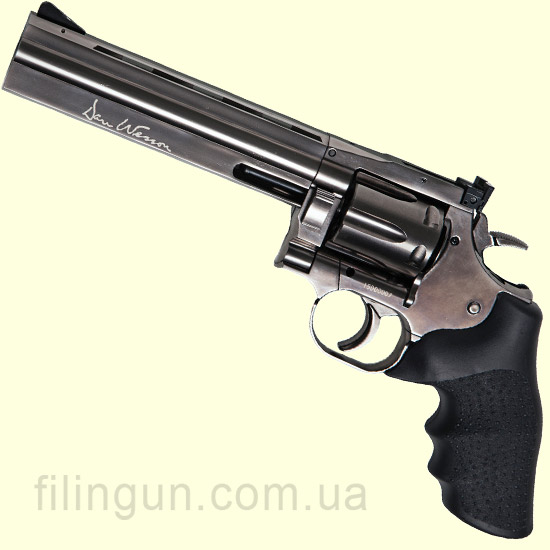 "Пневматичний револьвер ASG Dan Wesson 715 6"" Pellet Steel Grey - фото"