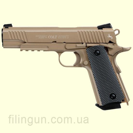 Пневматичний пістолет Colt M45 CQBP FDE