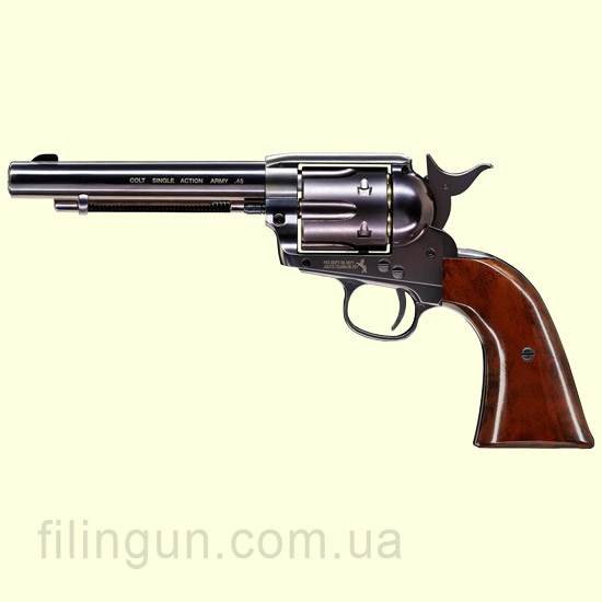 "Пневматический револьвер Colt SAA .45-5.5"" Blue Finish"