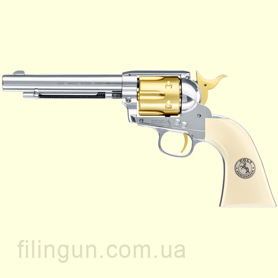 "Пневматический револьвер Colt SAA .45-5.5"" Gold Edition"
