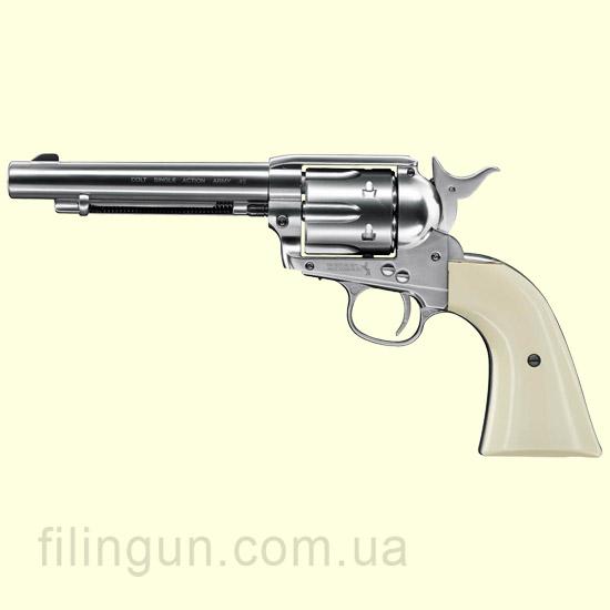"Пневматичний револьвер Colt SAA .45-5.5"" Nickel Finish"