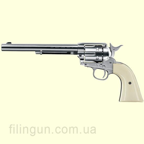 """Пневматичний револьвер Colt SAA .45-7.5"""" Nickel"""