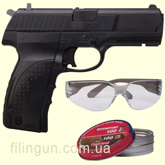 Пневматический пистолет Crosman 1088 Pistol Kit