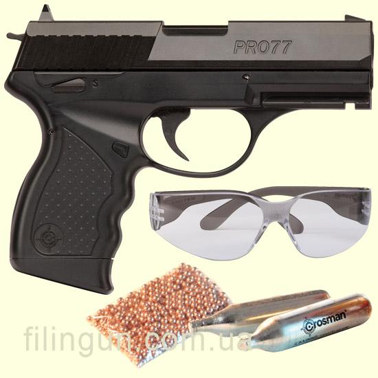 Пневматичний пістолет Crosman PRO77 Kit – купити в інтернет-магазині ... 53d3e8f4cae87
