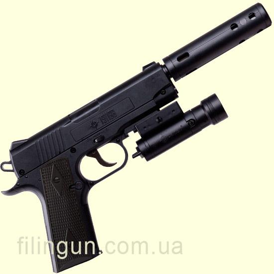 Пневматичний пістолет Crosman TAC 1911 BB - фото