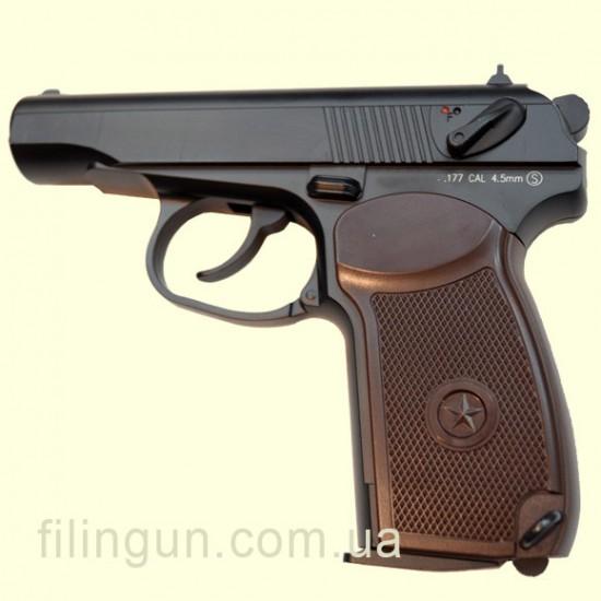 Пневматический пистолет KWC PM Makarov KM44DHN Full Metal - фото