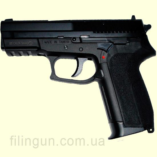 Пневматичний пістолет KWC Sig Sauer 2022 KM-47 DHN metal slide - фото